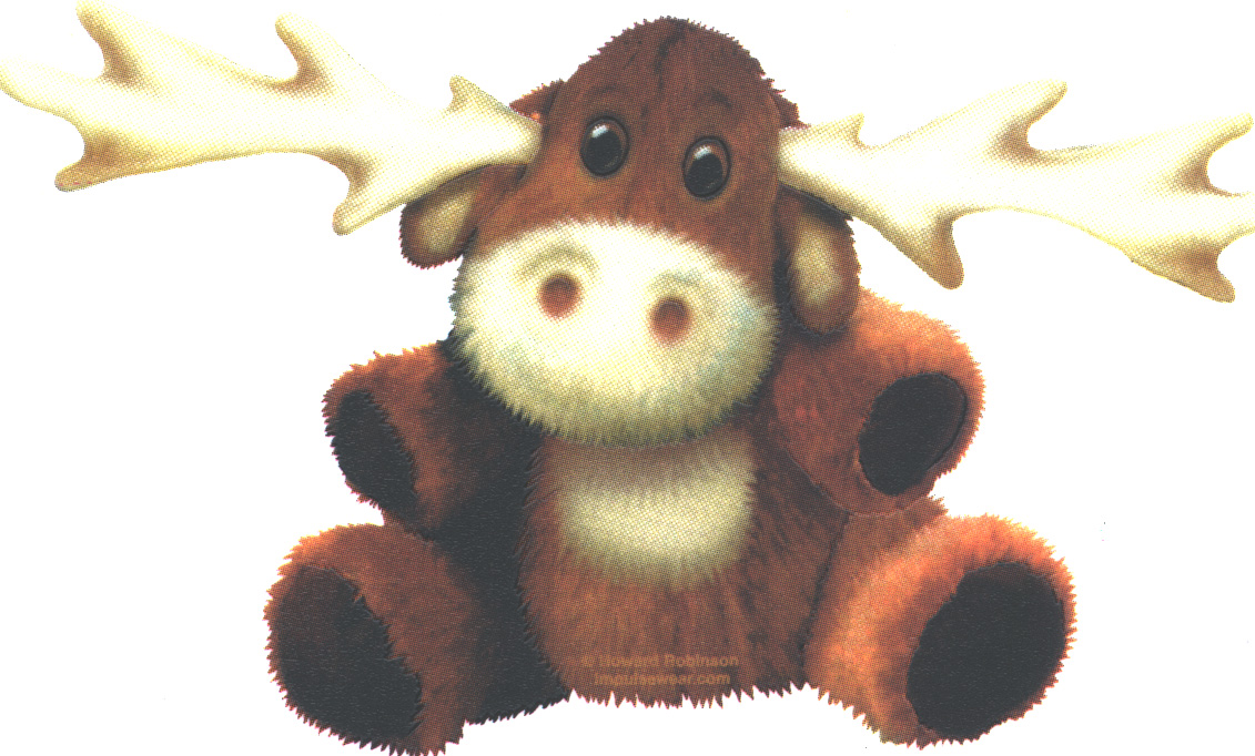 Moose T-shirt with Stuffed Moose - Child's Large