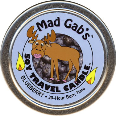 Mad Gab's Blueberry Soy Travel Candle