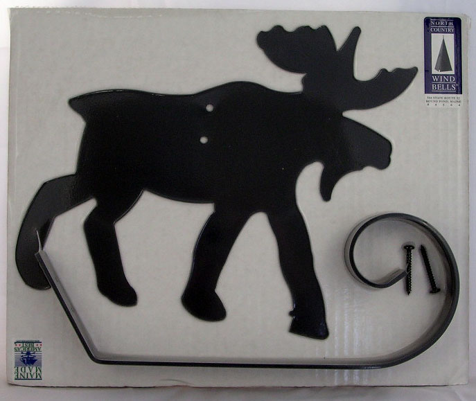 Black Metal Moose Hook - On Wall