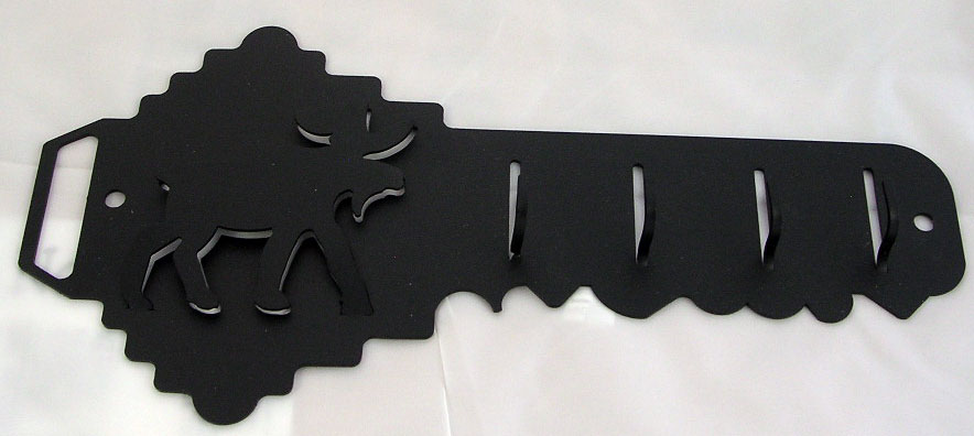 Black Metal Moose Key Rack