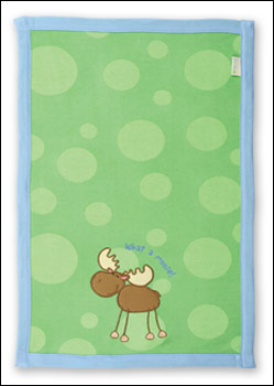 Green Burp Cloth - What a Moose