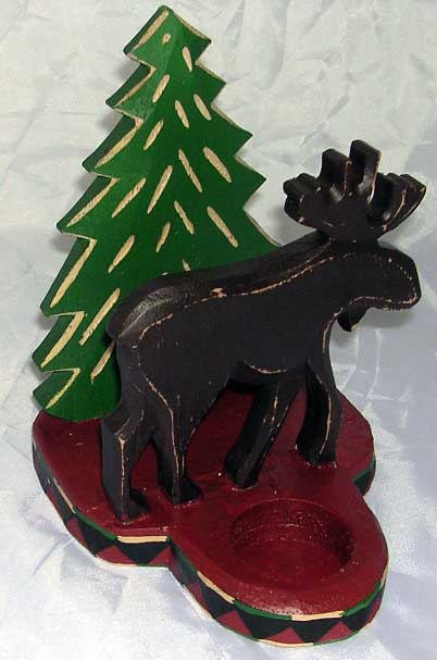 Wooden Moose Napkin Caddy