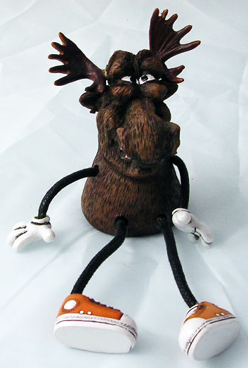 Critter Sitter Moose with Wavy Arms & Legs