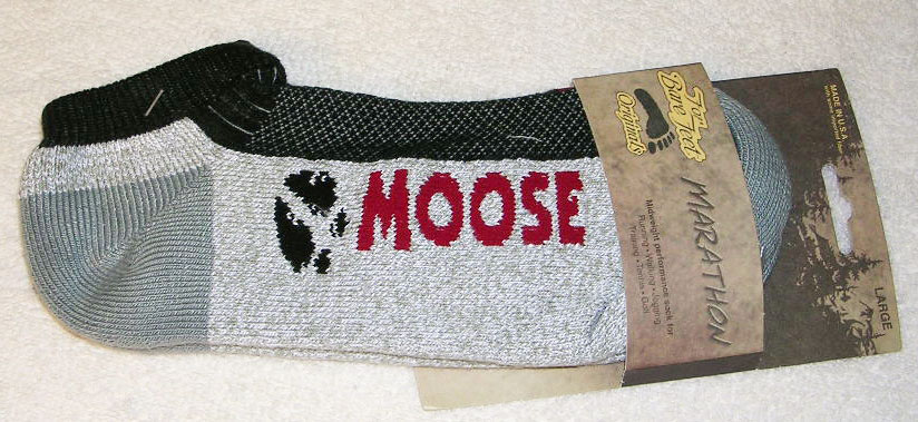 Marathon Moose Ankle Socks - Medium