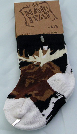 Moose in the Woods Socks - X Small